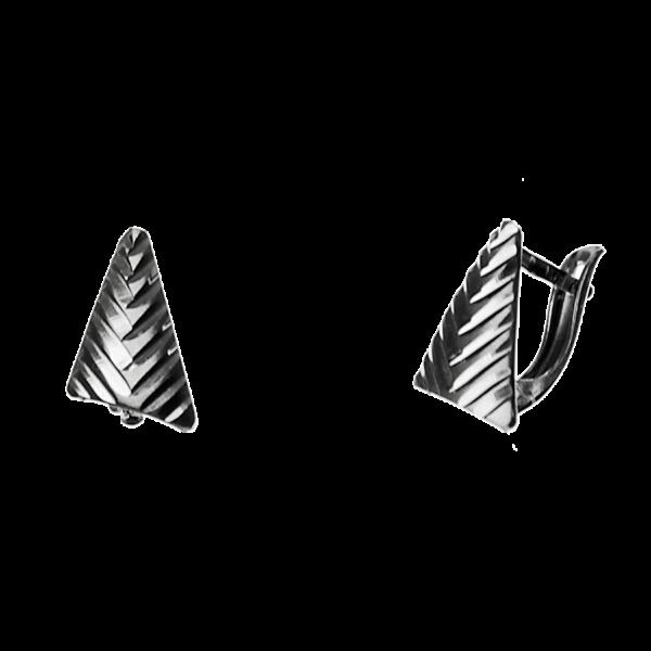 Купити сережки англійський замок 5С165, пробою 925 — Срібний шлях