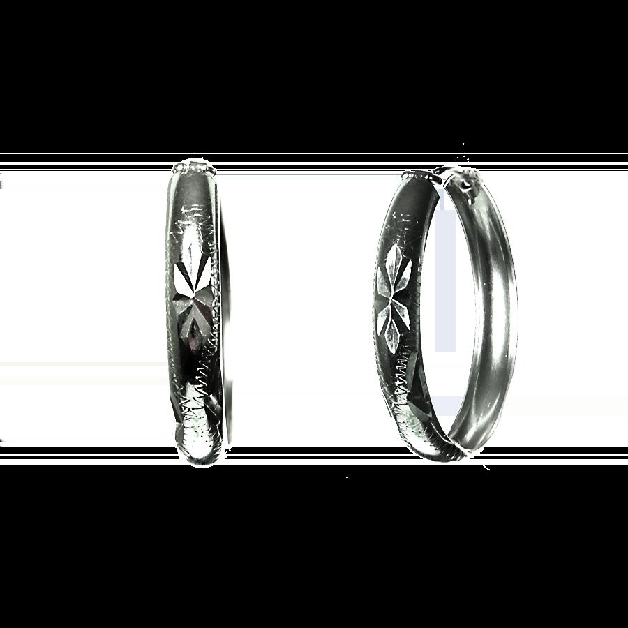 Купити сережки кільця 5С600, пробою 925 - Срібний шлях