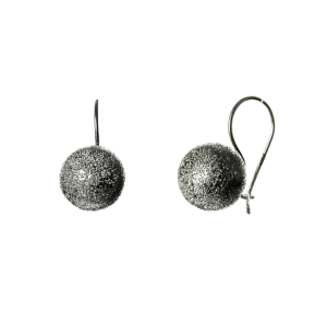 Купити сережки шари на петлі покриті родієм, пробою 925 - Срібний шлях