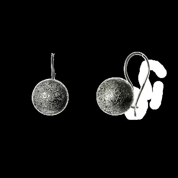 Купити сережки шари на петлі покриті родієм, пробою 925 – Срібний шлях