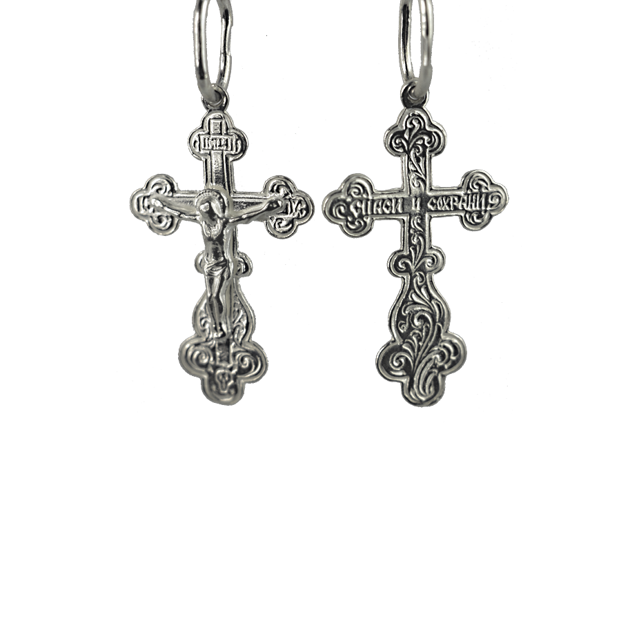 Купити Підвіску хрест П017, пробою 925, срібло для жінок та чоловіків