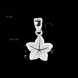 купити Підвіску зірка оздоблено фіанітами 6П155-А, проба 925