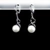 Купити Сережки з перлиною культивованою і фіанітом