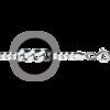 """Ланцюжок покритий родієм плетіння """"Гурмет"""", 45см, 7.05гр"""