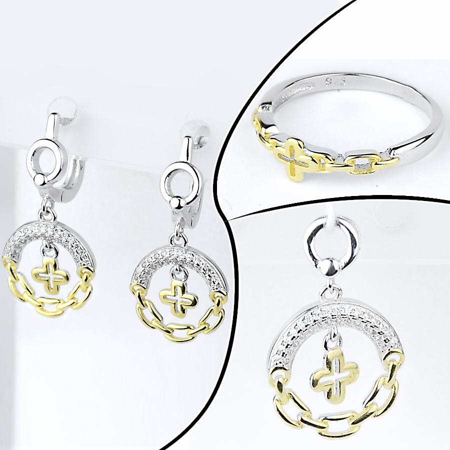 Комплект каблучка, підвіска та срібні сережки і Louis Vuitton