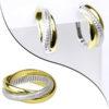 кольцо и серебряные серьги в стиле Cartier