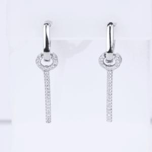 Срібні сережки-підвіски на англійській застібці, коло