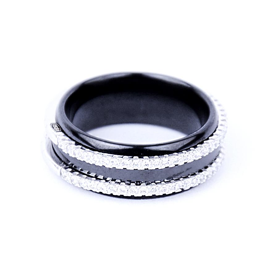 Керамічна срібна каблучка